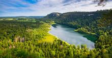 Lac De Bonlieu Im Franche Comt...