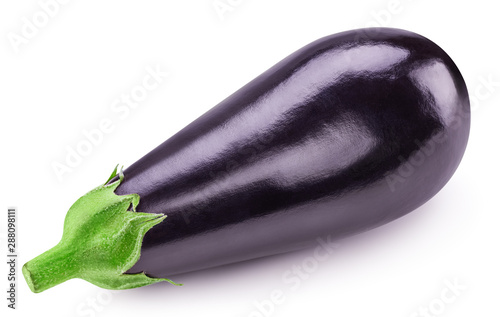 Aubergine isolated on white Canvas Print