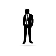 Silhouette Of The Businessman ...