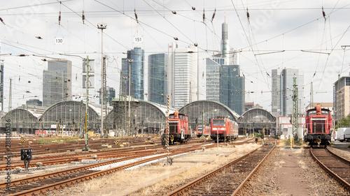 Photo sur Toile Voies ferrées Frankfurter Hauptbahnhof Rückseite