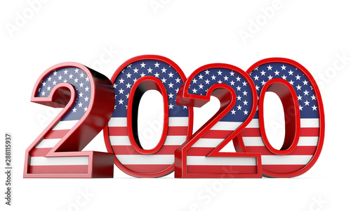 2020 United States of America Presidential Election sign Fototapet