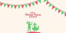 16 De Septiembre,Mexico Felices Fiestas Patrias, English Translation : (Mexican National Holiday, 16 September)  National Holidays Celebration Card.