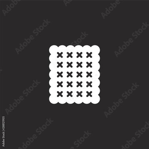 Obraz na płótnie biscuit icon