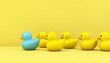 Leadership Concept Rubber Ducks