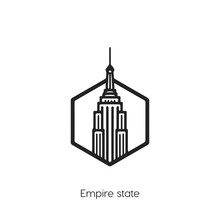 Empire States Icon Vector Symb...