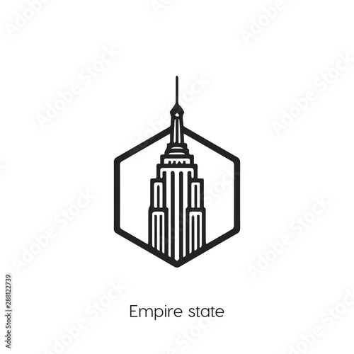 Fototapeta Empire states icon vector symbol. Empire States building symbol.