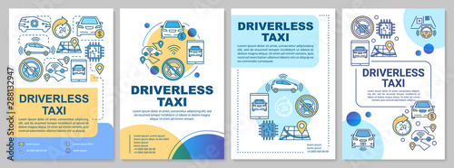 Fotomural Driverless taxi brochure template layout