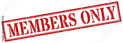 Pinturas sobre lienzo  members only stamp. members only square grunge sign. members only