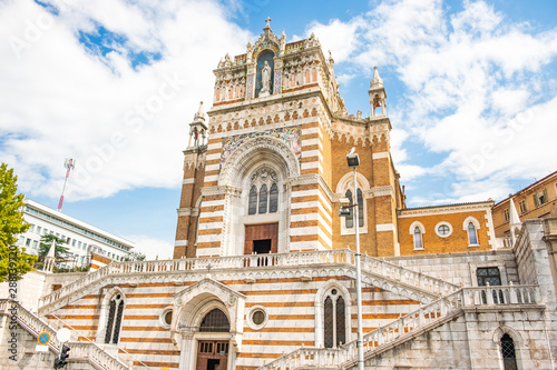 Front of the Capuchin Church of Our Lady of Lourdes in Rijeka Croatia Fotobehang
