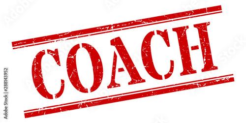 Canvas Print coach stamp. coach square grunge sign. coach