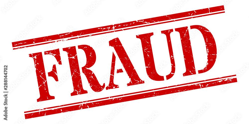 Fototapeta fraud stamp. fraud square grunge sign. fraud