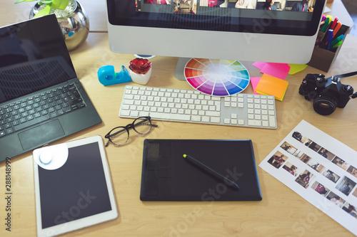 Desktop in a modern office