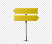 Realistic Arrow Traffic Sign O...