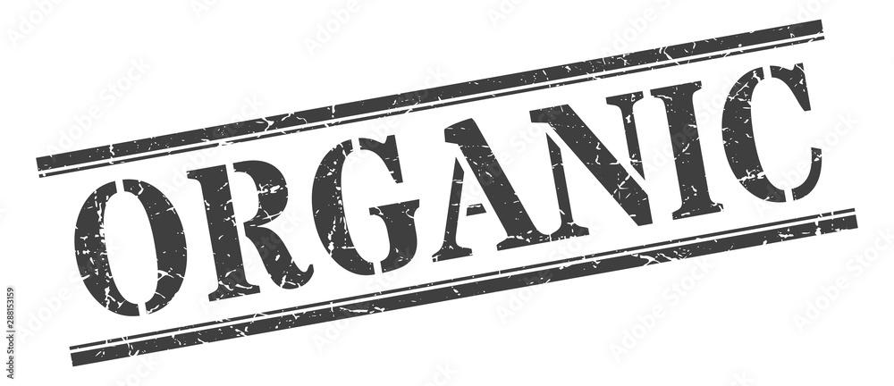 Fototapeta organic stamp. organic square grunge sign. organic