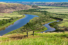 The Red Deer River Valley At D...
