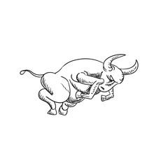 Zodiac Sign Taurus On A White ...