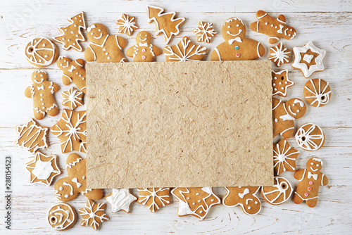 La pose en embrasure Fleur Various Christmas ginger cookies