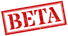 Beta Stamp. Beta Square Grunge...