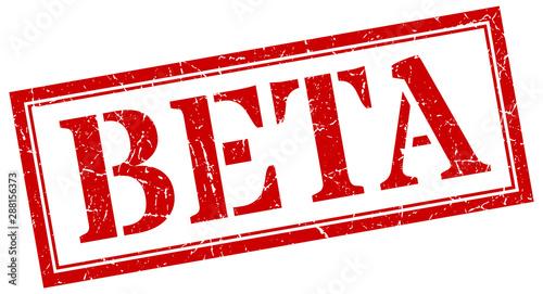 beta stamp. beta square grunge sign. beta Wallpaper Mural