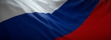 Official Flag Of Russia. Russian Web Banner.