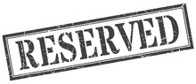 Reserved Stamp. Reserved Square Grunge Sign. Reserved