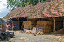 Dutch Farmyard With Stack Of H...