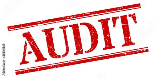 audit stamp. audit square grunge sign. audit Canvas Print