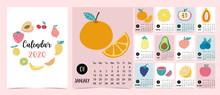 Doodle Fruit Calendar Set 2020...