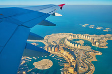 Flying Above Pearl-Qatar Island