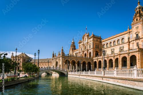 Fototapeta  Place d'Espagne à Séville, Andalousie, Espagne