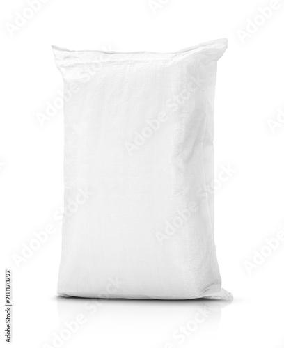 Obraz na plátně sand bag or white plastic canvas sack for rice or agriculture product