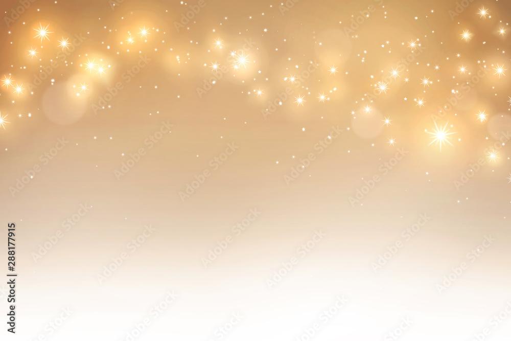 Fototapeta Elegant gold bokeh background