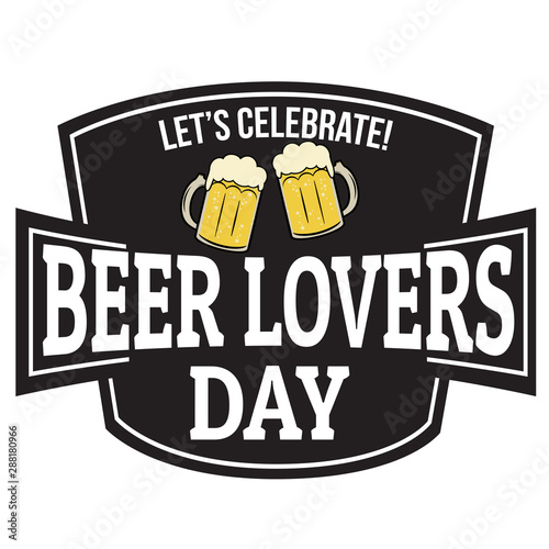 Foto Beer lovers day sign or stamp