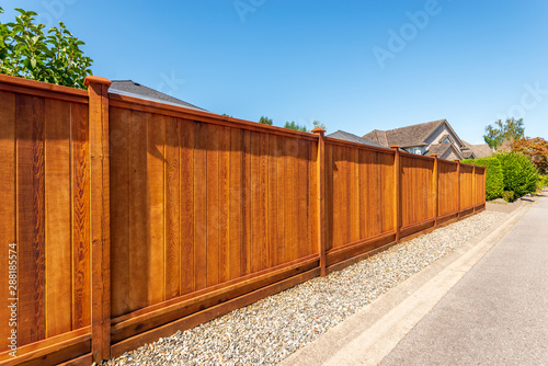 Leinwand Poster Fence built from wood