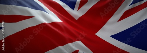 Photo sur Toile Rouge mauve Official flag of United Kingdom. Web Banner.