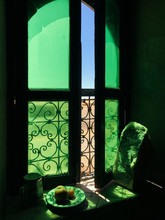 Moroccan Window In A House In Desert