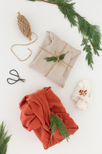 Linen Wrapped Gifts