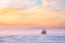 Fishing Boat At Dawn.