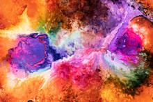 Abstract Liquid Space Background