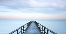 A Wooden Dock Stretching Out T...