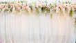 canvas print picture - White wedding flowers and wedding decorations