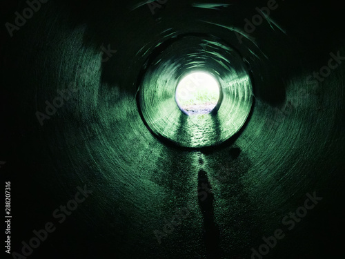 Drainage pipe under the highway Canvas-taulu