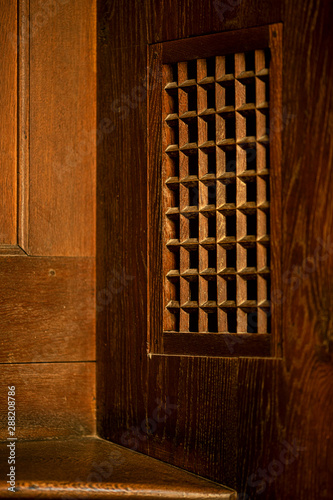 old confessional in the church Canvas Print