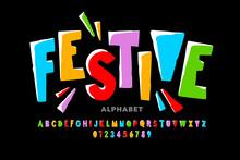 Bright Festive Style Font Desi...