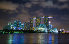 Gardens By The Bay And Skyline, Singapore