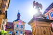 canvas print picture - famous old town hall in bamberg