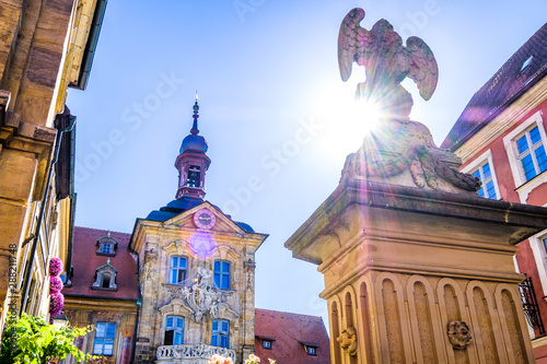 Foto  famous old town hall in bamberg