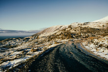 Off-Roading Through Icelandic Backcountry On Cold Fall Morning