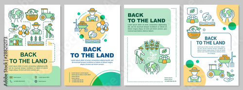 Back to the land brochure template layout Canvas-taulu