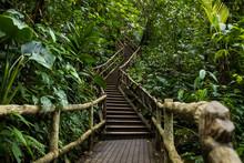 Stairs At La Fortuna Waterfall, La Fortuna, Costa Rica